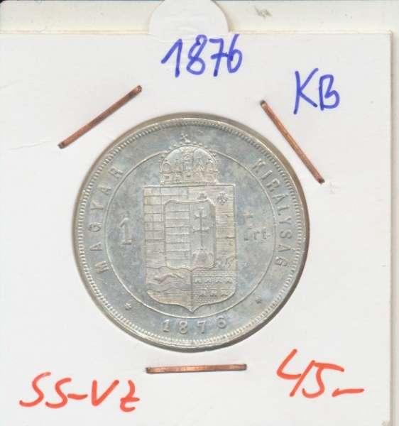 1 Gulden Forint 1876 KB Silber Franz Joseph