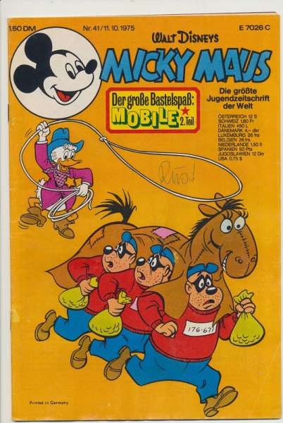 Micky Maus Nr. 41/1975
