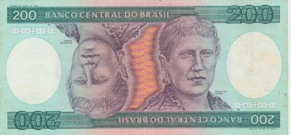 Brasilien- 200 Cruzeiros 1981-84 UNC - Pick 199