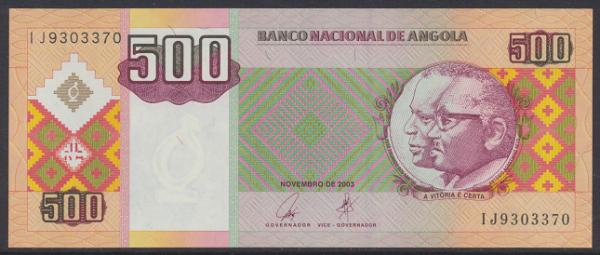 Angola - 500 Kwanzas 2003 UNC - Pick 149a