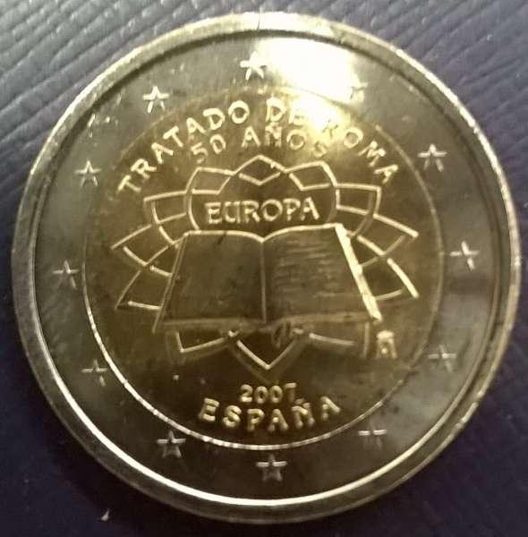 2 Euro Spanien 2007 Römische Verträge