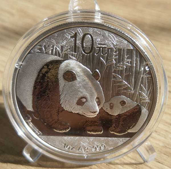 China 10 Yuan 2011 Panda 31,1g 1 Oz Silber Unze