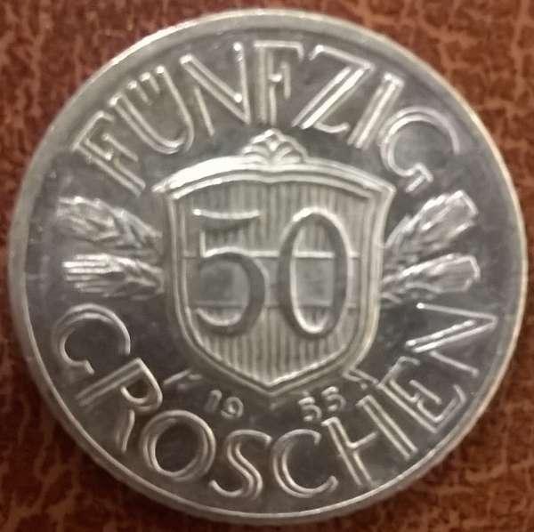 50 Groschen 1955 ALU ANK Nr.17
