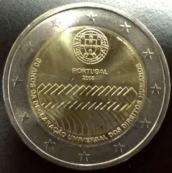 2 Euro Portugal Menschenrechte 2008