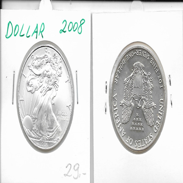 1 Dollar Silber Eagle Unze 2008