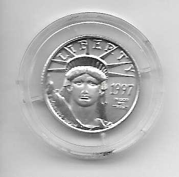 1/10 unze Platin USA 1997 10 Dollars Liberty
