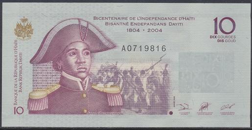 Haiti - 10 Gourdes 2004 UNC - Pick 272a