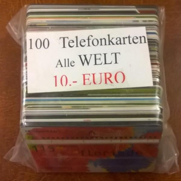 100 Stück Telefonkarten alle Welt