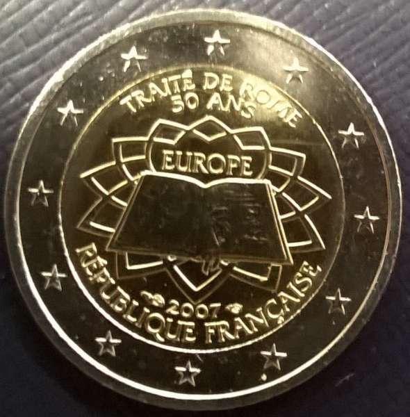 2 Euro Frankreich 2007 Römische Verträge