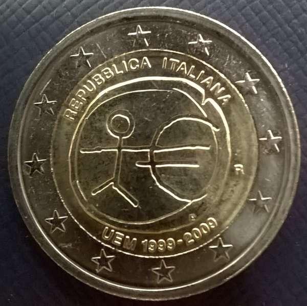 2 Euro Italien 2009 10 Jahre Euro WWU