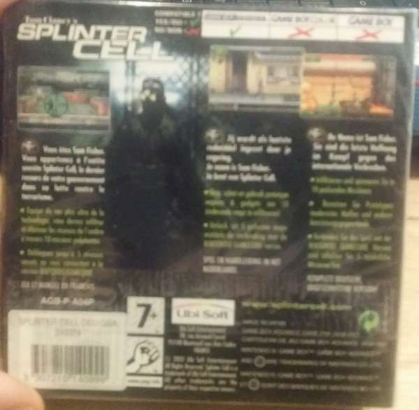 Gamboy Advance Splinter Cell Tom Claney s