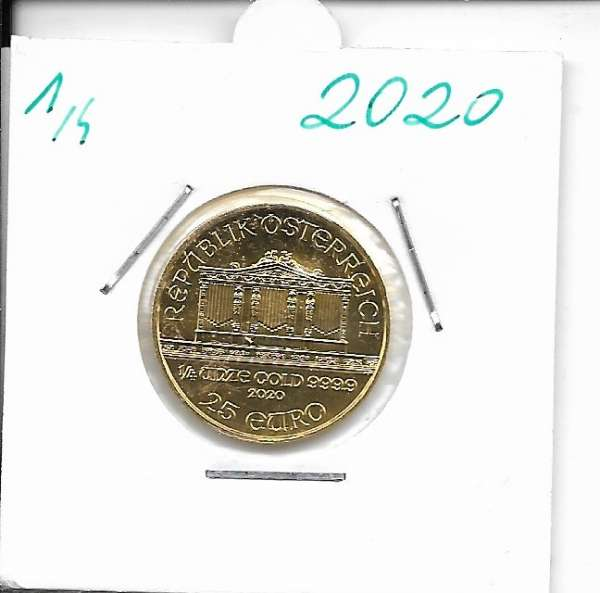 2020 Philharmoniker 1/4 Unze 25 € Euro 7,78 Gramm