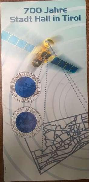 ANK Nr. 01 Flyer FOLDER ZU DER 25 EURO MÜNZE 700 Jahre Stadt Hall Niob 2003
