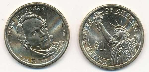 USA 1 Dollar 2010 P James Buchanan (15)
