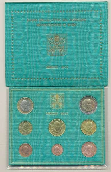 Kursmünzensatz Vatikan 2013 KMS Coinset