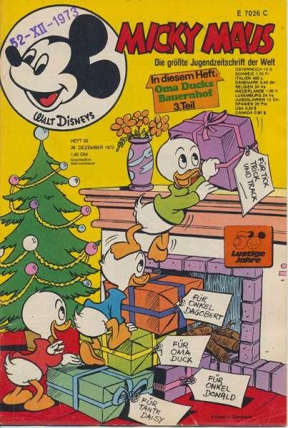 Micky Maus Nr. 52/1973