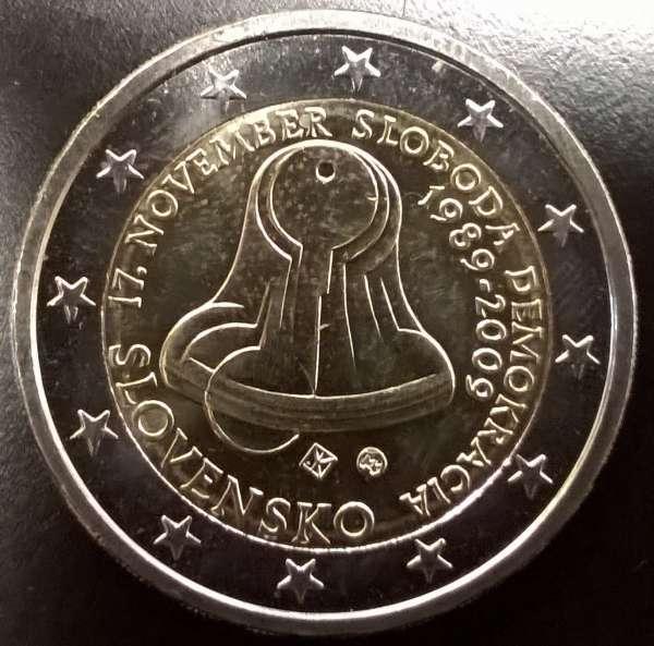 2 Euro Slowakei 2009 1989-2009 Demokratie