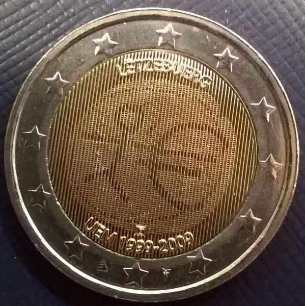 2 Euro Luxemburg 10 Jahre Euro 2009 WWU