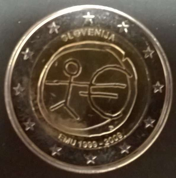 2 Euro Slowenien 10 Jahre Euro 2009 WWU