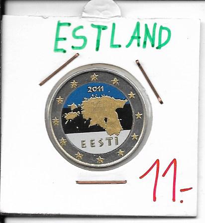 2 Euro Estland 2011 Coloriert