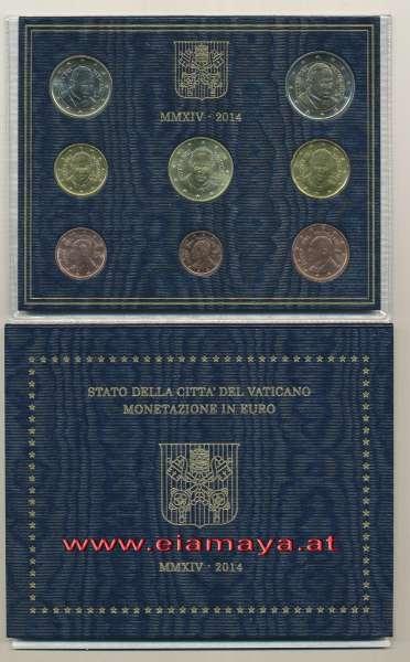Kursmünzensatz Vatikan 2014 KMS Coinset
