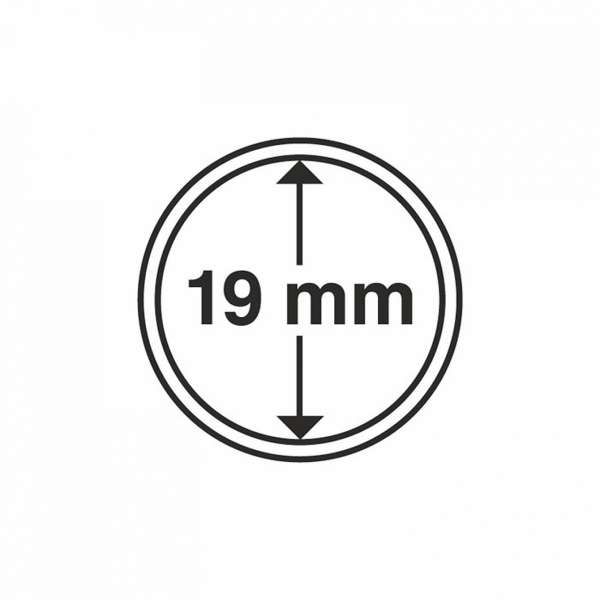 MÜNZKAPSELN CAPS 19 MM, 10 ER PACK