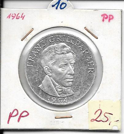 25 Schilling 1964 PP Franz Grillparzer ANK Nr.010