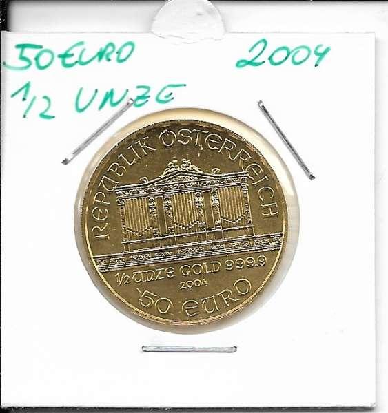 2004 Philharmoniker 1/2 unze 50 Euro 15,55 Gramm