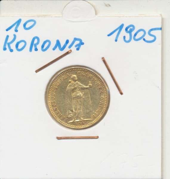 10 Korona 1905 KB Franz Joseph I Gold