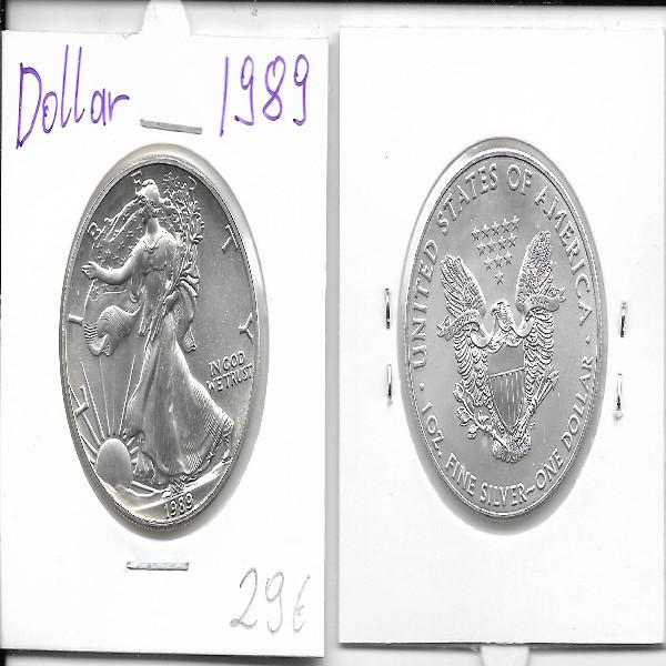 1 Dollar Silber Eagle Unze 1989