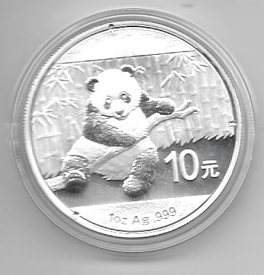 China 10 Yuan 2014 Panda 31,1g 1 Oz Silber Unze