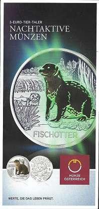 ANK Nr. 11 Flyer FOLDER ZU DER 3 EURO MÜNZE Tiertaler Fischotter 2019