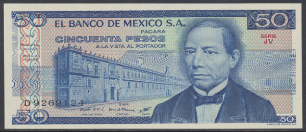 Mexiko- 50 Peso 1981 UNC - Pick 73