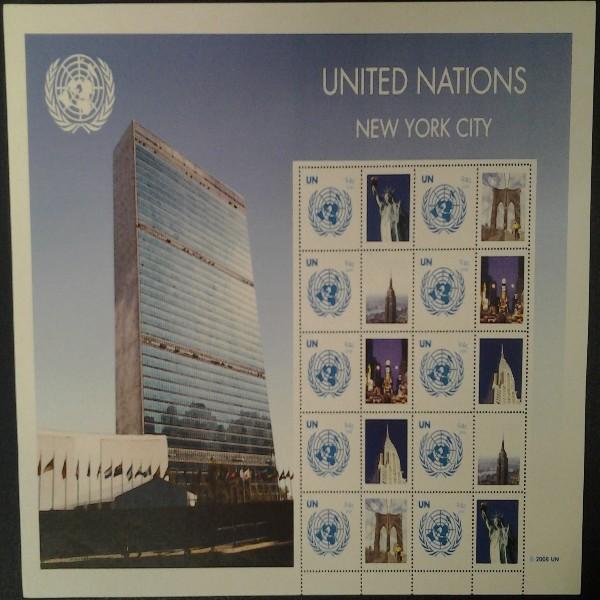 UNO New York GRUSSMARKEN 94 C BOGEN 2008 Postfrisch (23)
