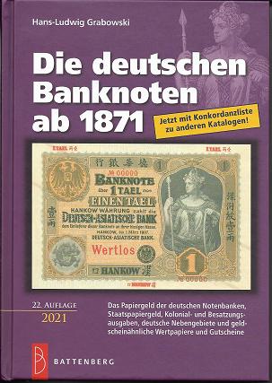 Die Deutschen Banknoten ab 1871 Rosenberg 22.Auflage-