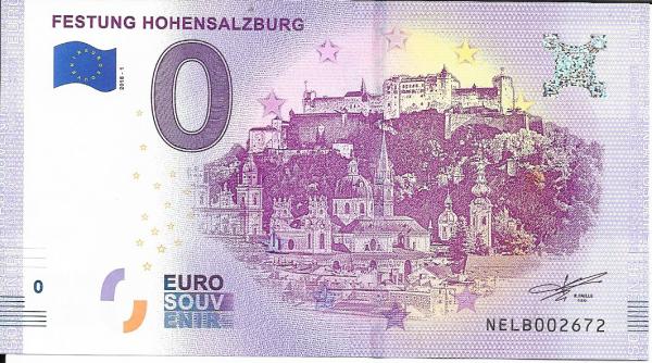 0 Euro Schein 2018-1 Festung Hohensalzburg - Unc ANK.Nr.12