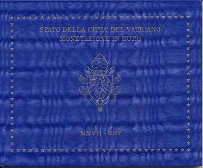 Kursmünzensatz Vatikan 2007 KMS Coinset nur leerer Blister