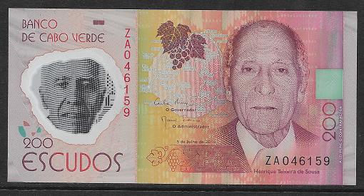Cape Verde Kap Verden - 200 Escudos 2014 UNC - Pick 71