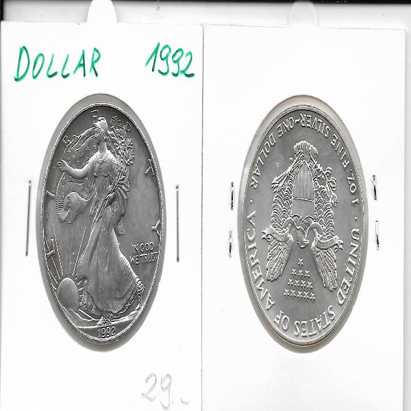 1 Dollar Silber Eagle Unze 1992