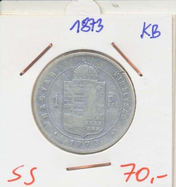 1 Gulden Forint 1873 KB Silber Franz Joseph