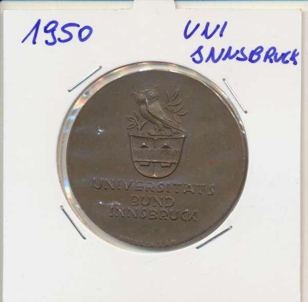 1950 Kalendermedaille Jahresregent Universität s Bund Innsbruck Bronze