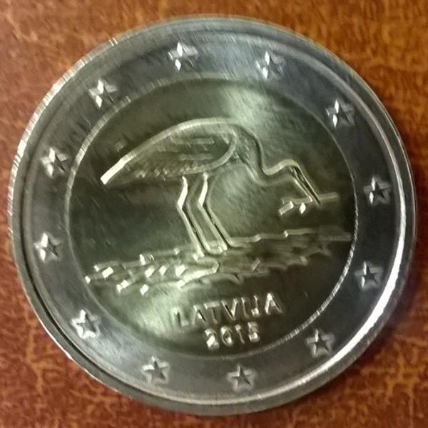 2 Euro Lettland 2015 Storch