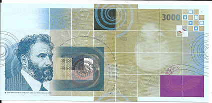 Gustav Klimt 3000 Schlange Austria OEBS0006522 UNC Original
