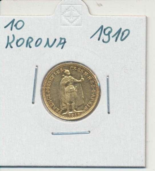 10 Korona 1910 KB Franz Joseph I Gold