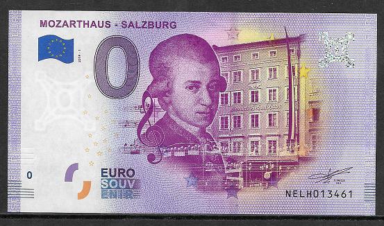 ANK.Nr.33 Mozarthaus Salzburg Unc 0 Euro Schein 2019-1