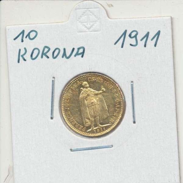 10 Korona 1911 KB Franz Joseph I Gold