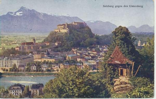 Salzburg gegen den Untersberg