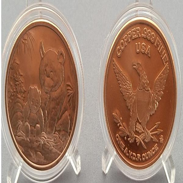 USA Panda 1 Unze Kupfer Medaille