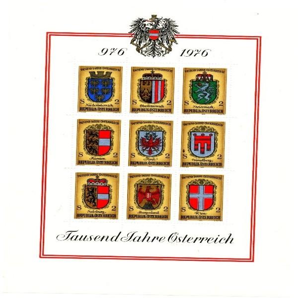Tausend Jahre Österreich Block postfrisch 1976