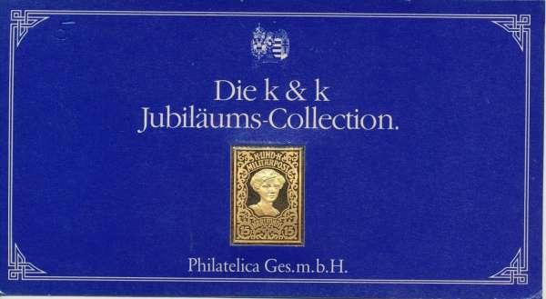 K&K Jubiläums Collection Silber Gold Österreich K&K Militärpost Karlfonds Zita 15 Heller 1918